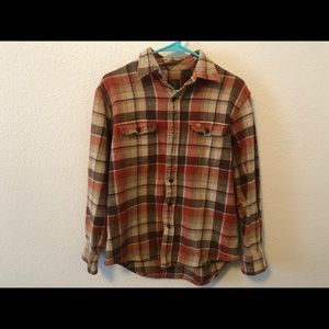 Timberland Plaid Men's Flannel Long Sleeve Shirt M